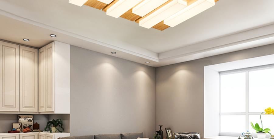 LED Wooden Base Piano Key Design Ceiling Light
