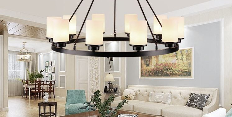 American Country Design Metal LED Chandelier