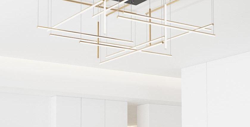 LED Tube Design Meta Chandelier