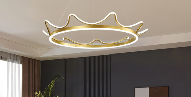 LED Modern Crown Design Pendant Light