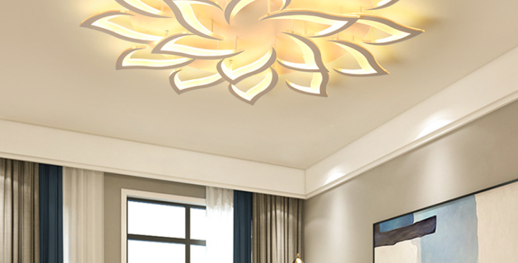 LED Flower Design Modern Style Ceiling Light