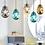 Thumbnail: LED Modern Decorative Multi-color Design Glass Pendant Light