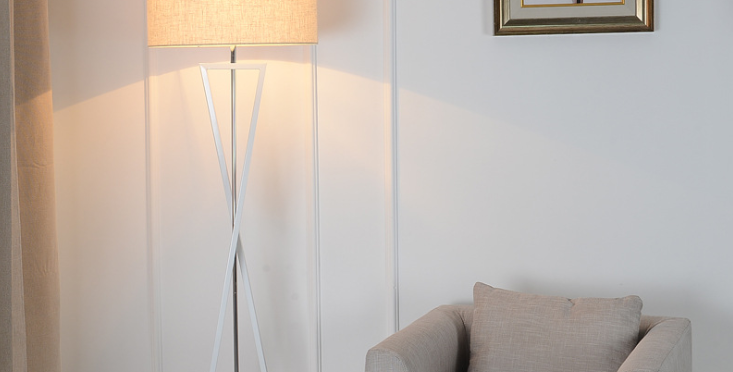 LED Classic Infinity Cloth Floor Lamp