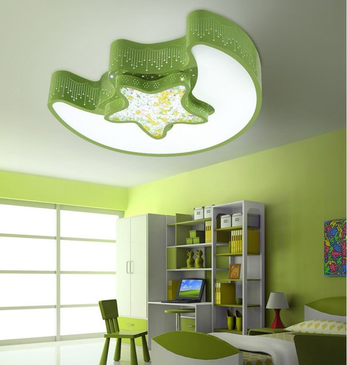 Acrylic led moon and star ceiling light for children room jupiter weight aloadofball Image collections