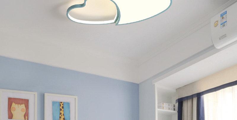 Acrylic LED Double Heart Ceiling Light for Children Room