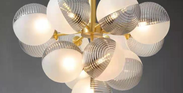 LED Multi-Sphere Glass Pendant Light