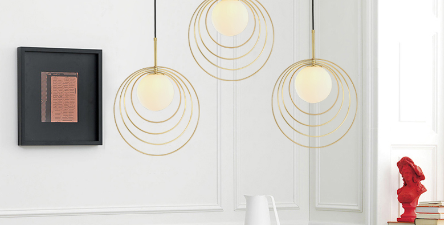 LED Ripple Design Pendant Light
