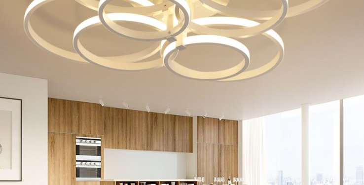 Modern Multi-Circle LED Ceiling Light for Living Room