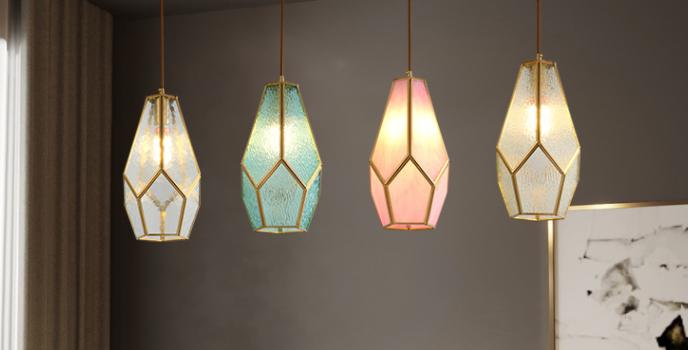 LED Multi-Design Creative Glass Pendant Light