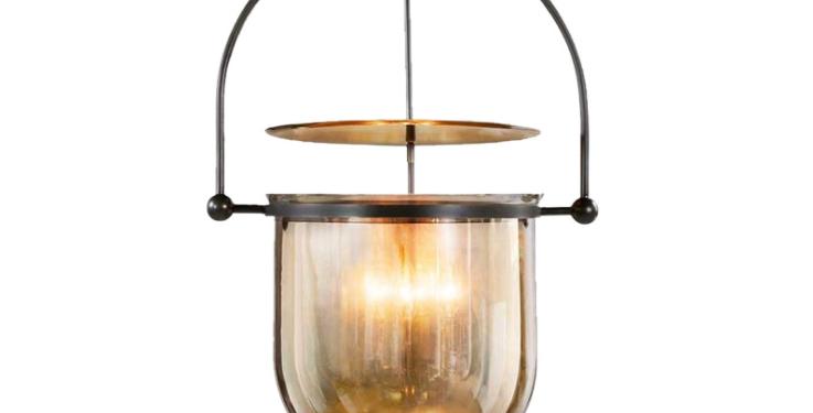 LED Post-modern Glass Bucket Pendant Light