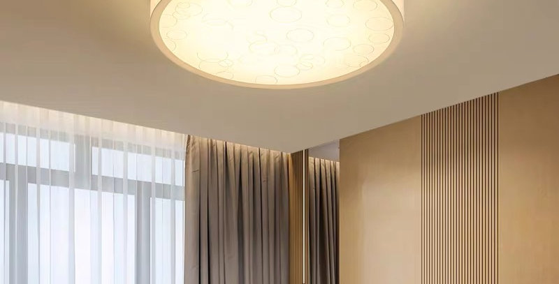LED Acrylic Bubble Metal Ceiling Light for Living Room
