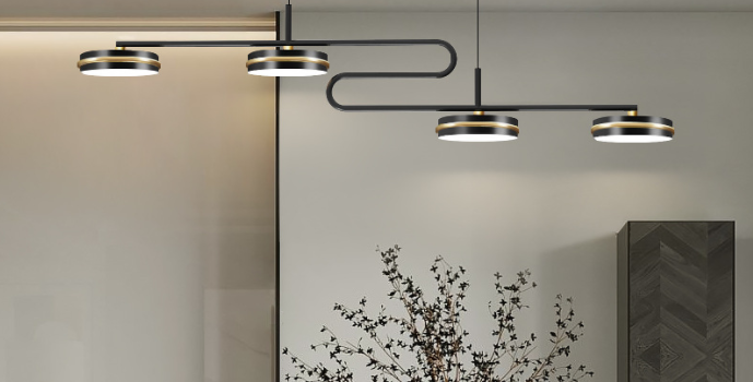 LED S-Shape Modern Linear Pendant Light