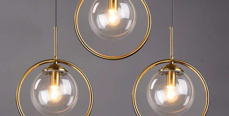 LED Creative Decorative Metal & Glass Pendant Light