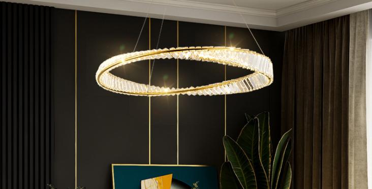 LED Luxury Style Crystal Halo Pendant Light