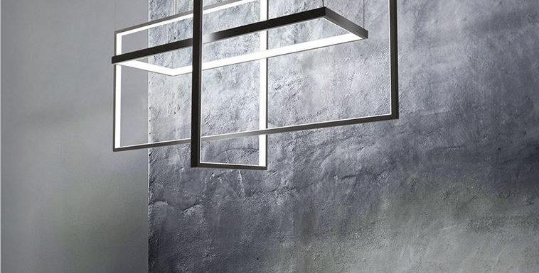 LED Minimalism Geometric Aluminium Pedant Chandelier