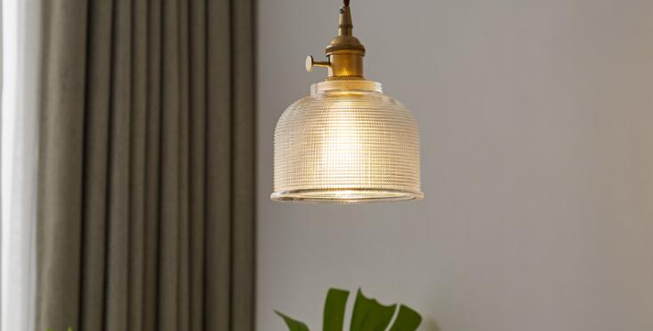 LED North European Simple Retro Brass Pendant Light
