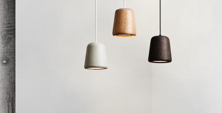 LED Mini Modern Wood Pendant Light