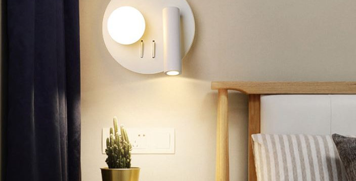 LED Creative Rectangle and Round Wall Light
