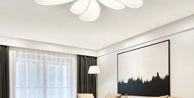 Acrylic LED Flower Ceiling Light for Living Room Bedroom