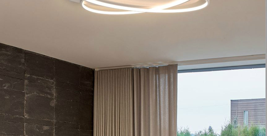 LED Double Ovals Metal Ceiling Light