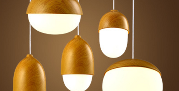 LED Chestnut Pendant Light for Restaurant Dining Room