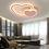 Thumbnail: LED Double Heart Ceiling Light
