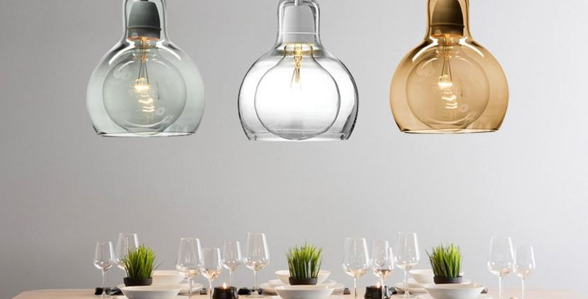 Modern LED Big Light Bulb Shape Pendant for Living Room Dining Room Balcony