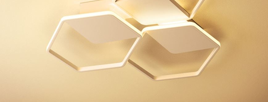 LED Hexagon Ceiling Light