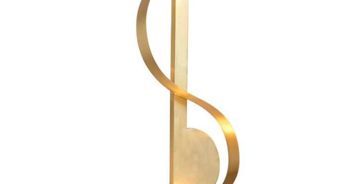 LED Music Symbol Wall Light
