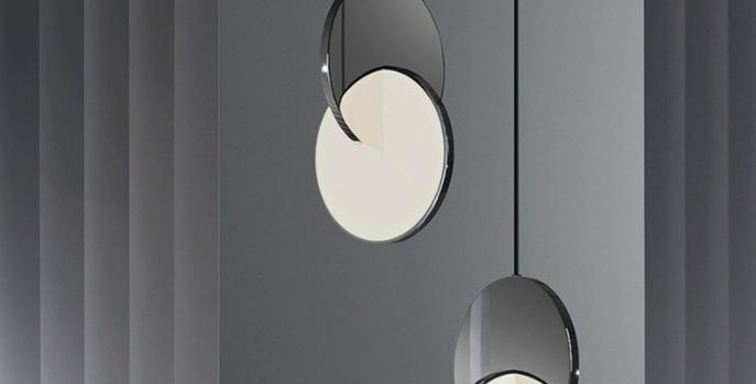 LED Twin Discs Modern Pendant Light