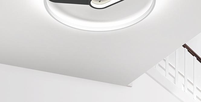 LED Modern Clock Ceiling Light