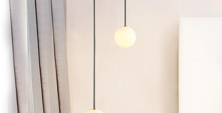 LED Double Glass Pendant Light