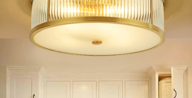LED Modern Country Style Brass Ceiling Light