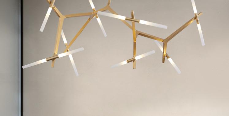 LED Multi-Light Tree Branches Design Pendant Light