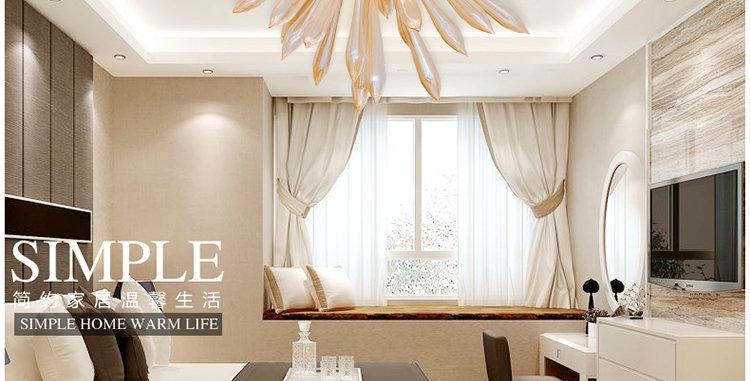 LED Modern Dandelion Glass Tube Ceiling Pendant Light