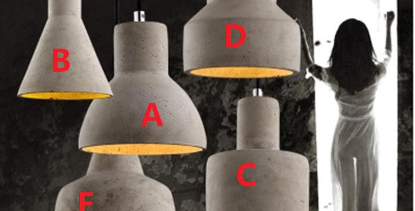 (Stock) North European Style LED Cement Pendant Design D