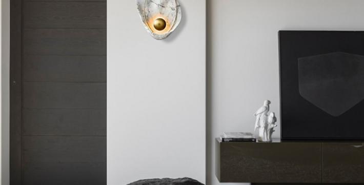 LED Resin Metal Wall Light