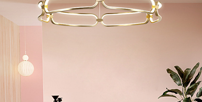 LED Ring Metal Pendant Light
