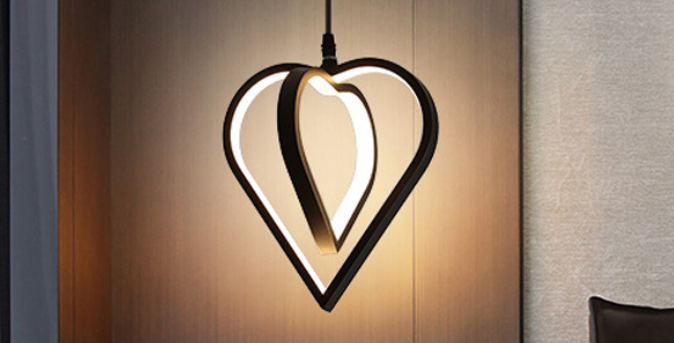 LED Heart Shape Design Pendant Light