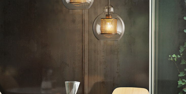 LED Metal & Glass Pendant Light