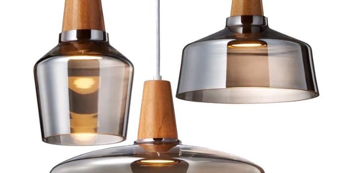 LED Modern Simple Transparent/Ash Grey Pendant Light