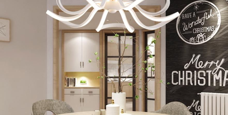 LED Acrylic Floral Creative Design Pendant Light