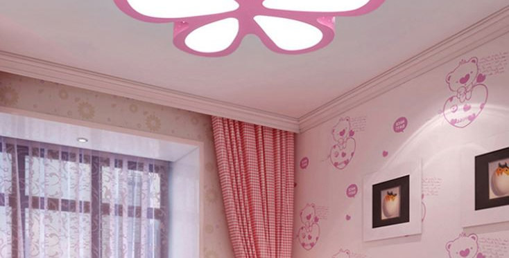 Acrylic LED Butterfly Ceiling Light for Children Room
