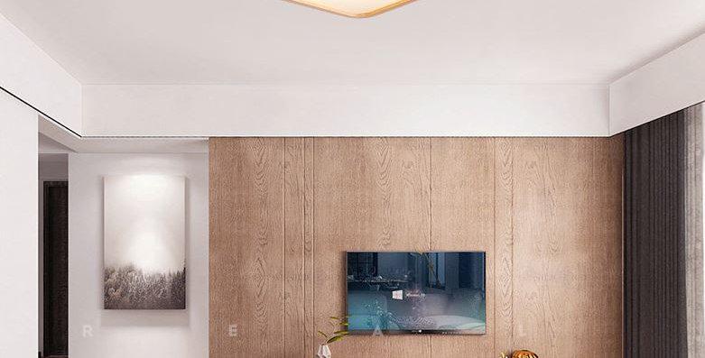 Wood Acrylic LED Ceiling Light Square Round European Design
