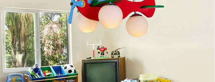 Airplane Design LED Pendant for Children's Bedroom