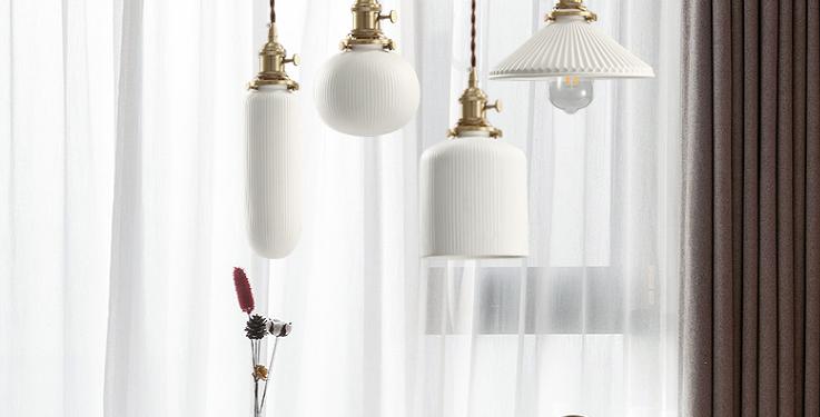 LED Simple Ceramic Pendant Light