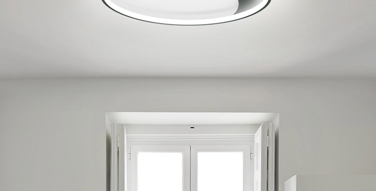 LED Mirror and Moon Simple Ceiling Light