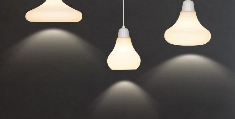 LED Multi-Design Milky White Pendant Light