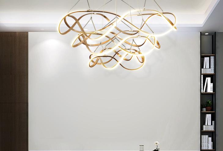 LED Spiral Ring Ceiling Pendant Light