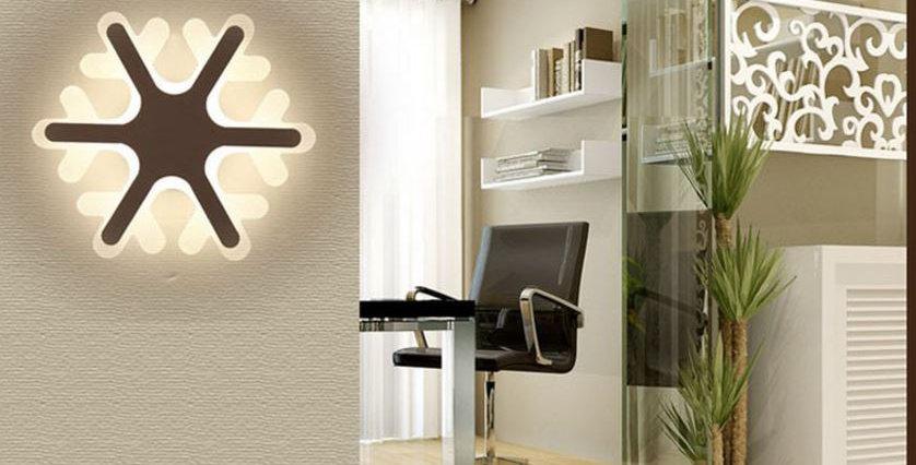 Acrylic LED Snow Design LED Wall Light